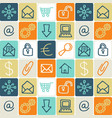 hand drawn icons set - internet vector image