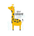 hand drawn of a cute funny vector image vector image
