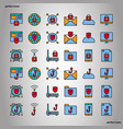 internet security color line icons perfect pixel vector image vector image