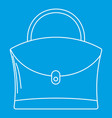 little woman bag icon outline style vector image vector image