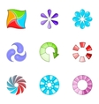 Loading process icons set cartoon style vector image vector image