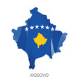 map kosovo vector image