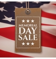 Memorial Day sale background vector image vector image