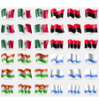 Mexico UPA Niger Altai Republic Set of 36 flags of vector image vector image
