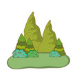 mountains nature landscape vector image vector image