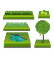 nature elements-001 vector image vector image