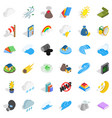 nature force icons set isometric style vector image vector image