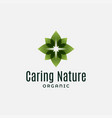 nature logo with leafs on white background vector image