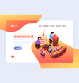 overweight risks landing page vector image vector image