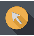 paper flat icon with a shadow web arrow vector image