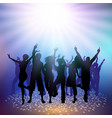 party crowd on a spotlight background vector image vector image