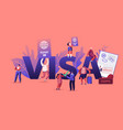 people getting visa concept travelers and vector image vector image