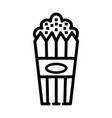 popcorn food icon design sign vector image