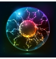 Rainbow fire plasma ball vector image