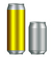 realistic canisters vector image vector image