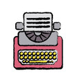 retro typewriter equipment with business document vector image vector image