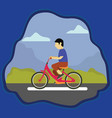 riding a bike on the park vector image vector image