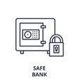 safe bank line icon concept safe bank vector image vector image