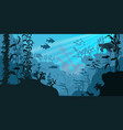 sea underwater wildlife swimming marine turtle vector image