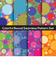Seamless Colorful Circles Pattern Set Of 8 vector image vector image