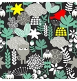 Seamless pattern with black cat vector image vector image