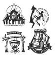 set camping emblems labels badges logos vector image vector image