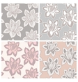 Set of four lace seamless patterns with flowers vector image