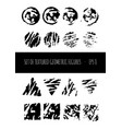 set of textured geometrical figures eps 8 vector image
