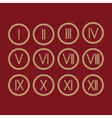 Set Roman numerals 1-12 icon vector image
