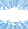 Snowflake backgrounds card vector image vector image