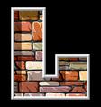 stone letter L vs vector image vector image