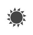 Sun icon Light sunbeams Gray design sign vector image vector image