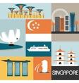 symbols singapore vector image vector image
