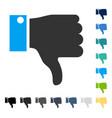 thumb down icon vector image vector image