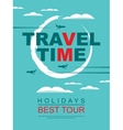 travel agencies with a pattern of aircraft vector image vector image
