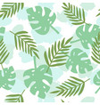 tropical leafs silhouette pattern vector image vector image