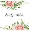 wedding floral invite invitation save date card vector image vector image