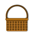 wicker basket icon image vector image