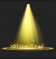 yellow spotlight light effect vector image vector image