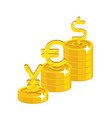 yen euro dollar signs vector image vector image