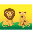 lion and lioness vector image