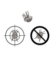 prohibition sign colorado beetles vector image