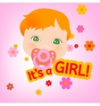 Baby message card vector image