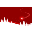 Christmas background with shooting star vector image