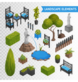 Garden Park Elements Transperent Set vector image
