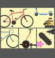 active city transport eco alternative energy bike vector image