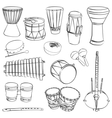 African traditional musical instruments vector image vector image