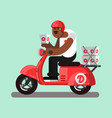 afro american delivery boy vector image vector image