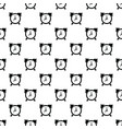 alarm clock pattern seamless vector image vector image