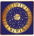 All zodiac signmoonsunHoroscope circle vector image vector image